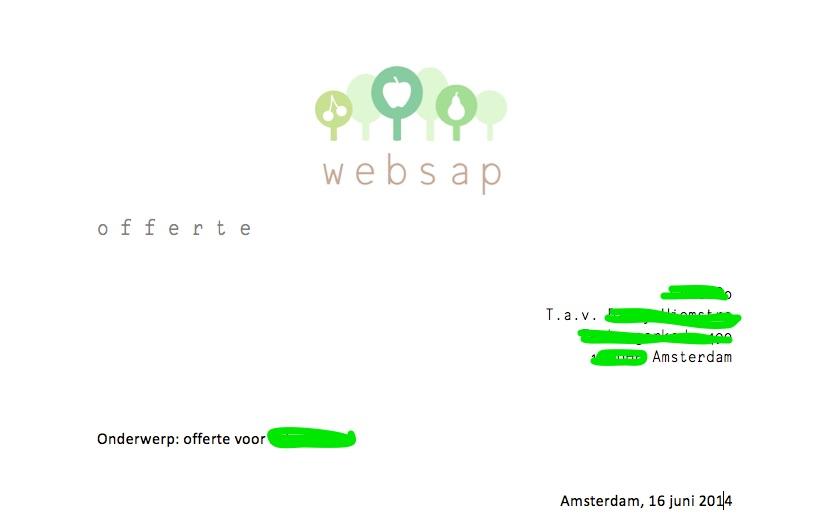 Offerte tekstschrijver